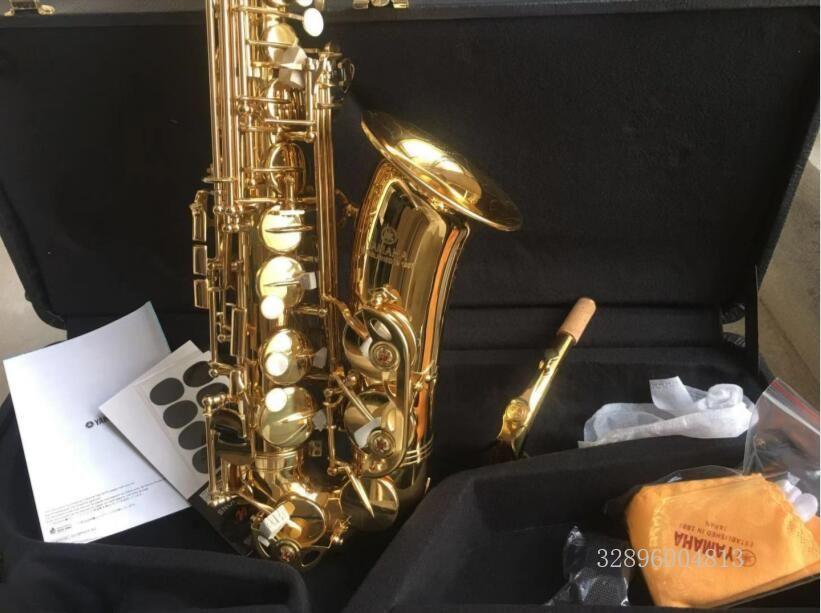 New Saxophone Alto Sax Engraved YAS 62 Copy Professional E-flat Gold Saxofone Top Musical Instruments