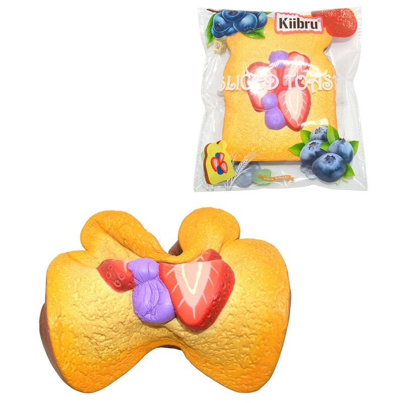 Strawberry Sliced Toast Squishied for Anti stress Soft Toy With Packaging Kids Adult popular Super Slow Rising Gift