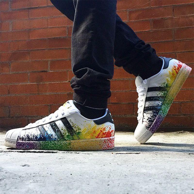 Adidas Official SUPERSTAR Clover Women's Men's Skateboarding Shoes Sport Outdoor Sneakers Classic Low Top Designer Walking