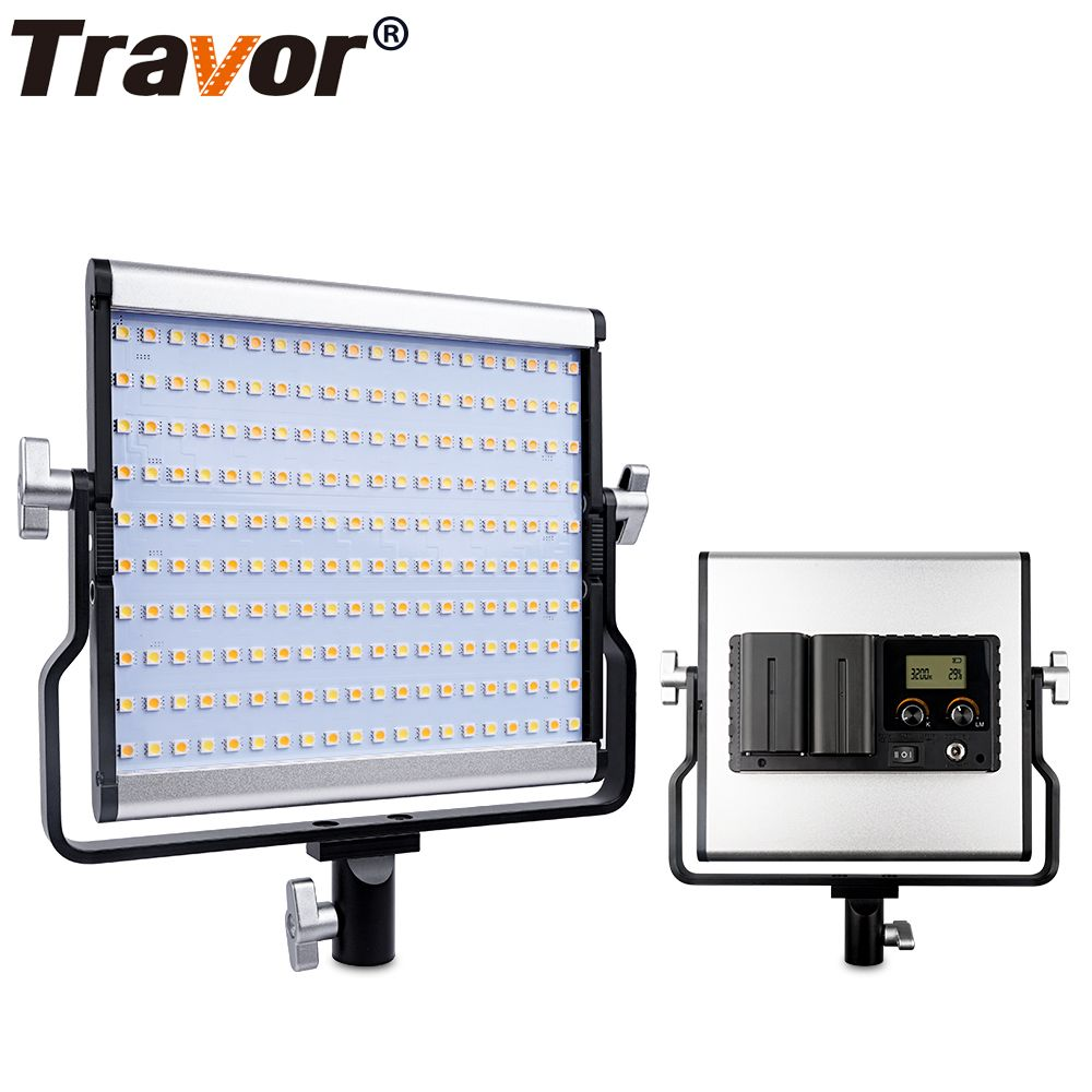 Travor L4500 Bi-color LED Camera Video Light video photography Light+AC Power Adapter with Large LCD display carry bag