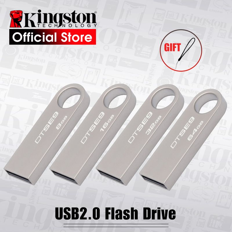 Kingston DTSE9 USB Flash Drive Métal Mini Clé USB Bâton 8 gb 16 gb 32 gb Mémoire Bâton De Stockage USB clé usb Flash Pen Drive Mémoire