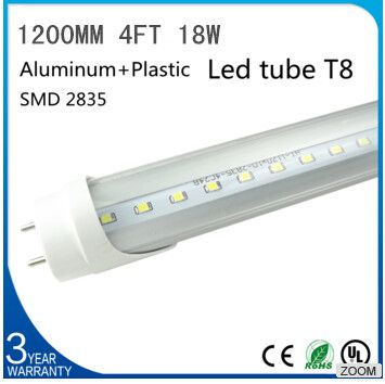 18W 20W T8 Led Tube 1200mm 4ft 1.2m High quality led fluorescent SMD2835 PF>0.9 AC85-265V factory outlets 2 Year Warranty