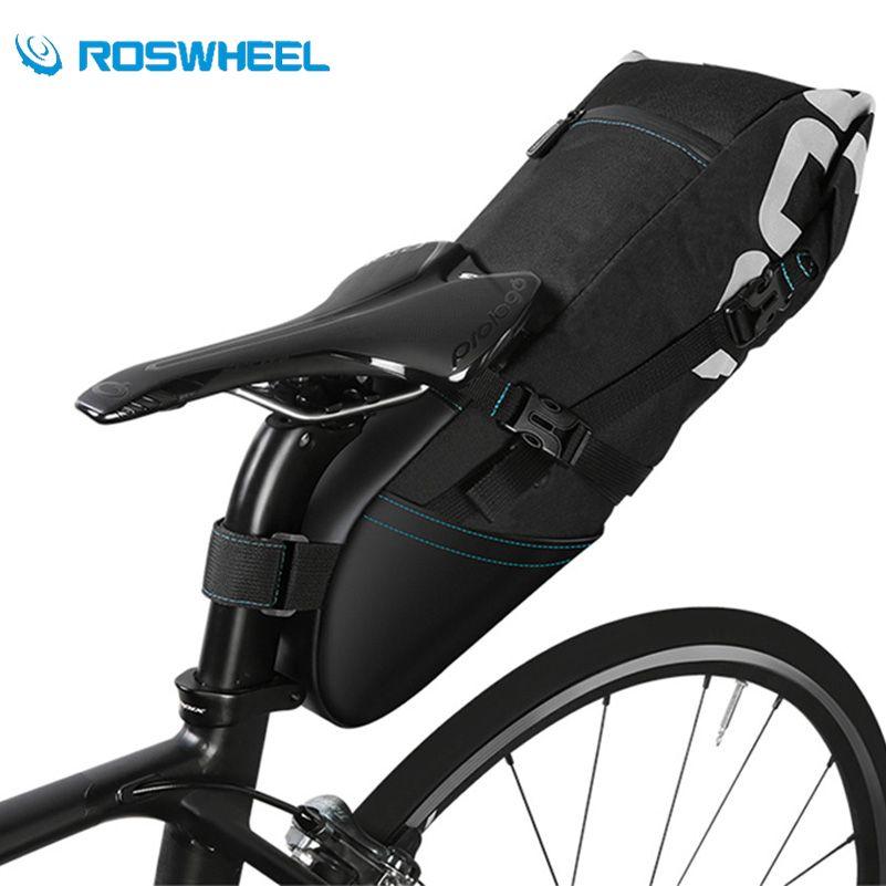 ROSWHEEL Bicycle Bags 10L Waterproof Bike Bag 8L Bicycle Accessories Bike Seatpost Panniers Cycling Mountain MTB Bike Saddle Bag