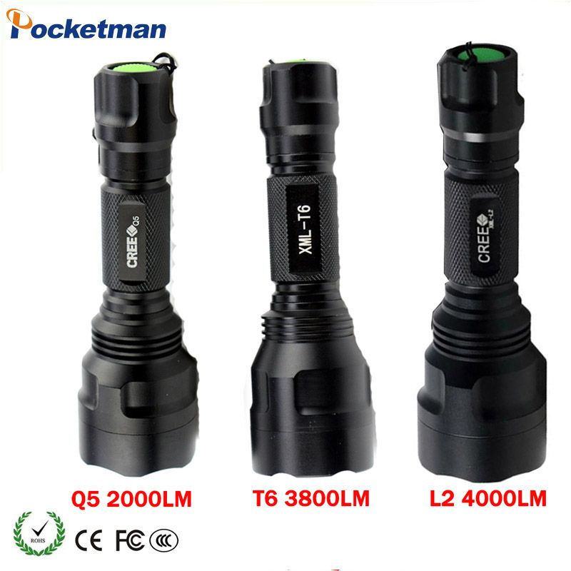 2018 New Led Flashlight CREE XML T6 XML L2 Q5 Waterproof 18650 battery touch camping bicycle flash light Z94
