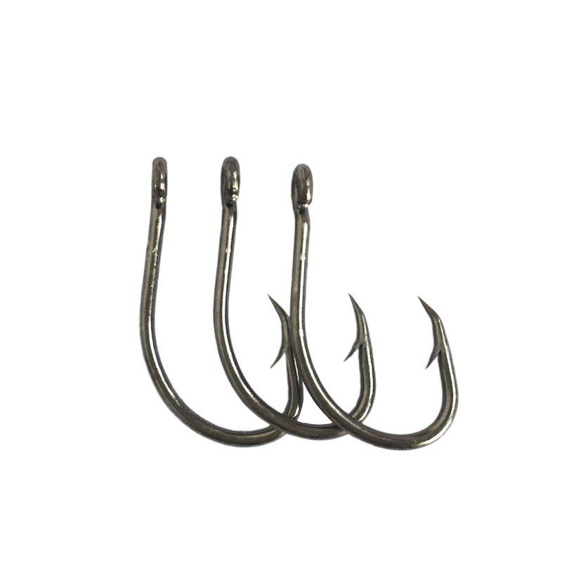 1000pcs/lot  9260 2/0 Sea Hooks Fishing Sharp High Carbon Steel Barbed Hook Free Postage Black Color Pesca Peche Wobbler