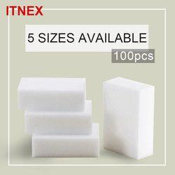 100pcs/lot 5 size Magic Sponge Melamine Sponge Eraser Pad Cleaner/durable Dish Washing Melamine Eraser Cleaning Sponge