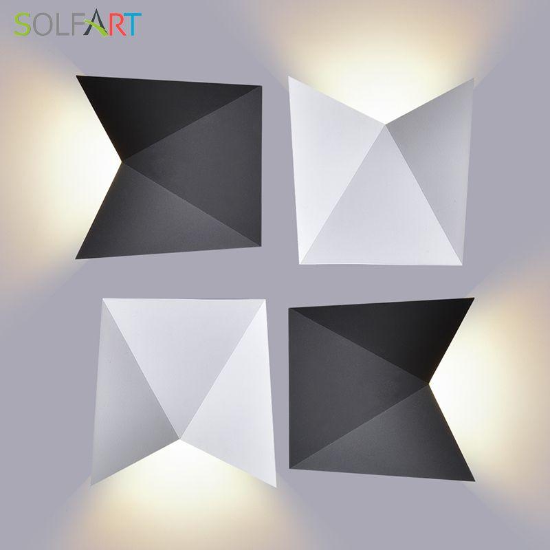 Solfart Настенные светильники белый Алюминий Водонепроницаемый Наружное освещение и Крытый стены, светодиодные лампы AC85-265V Спальня/gw-a816 1 шт.