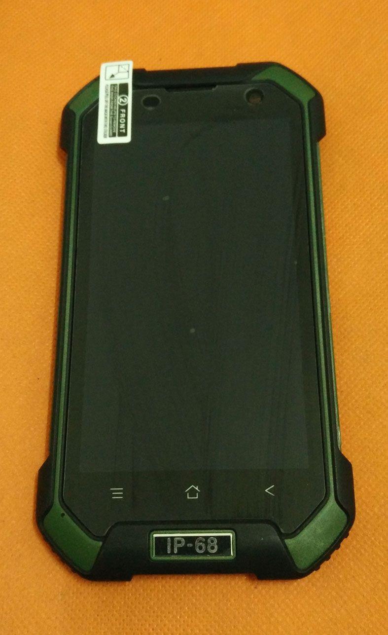 Utilisé Original écran Tactile + LCD display + Cadre pour Blackview BV6000 MT6755 Octa Core 4.7