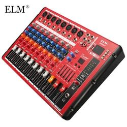 ELM Professional Bluetooth DJ Audio Sound Mixing Console 8 Channels Digital Sound Mixer For DJ Concert Audio Post-Processing