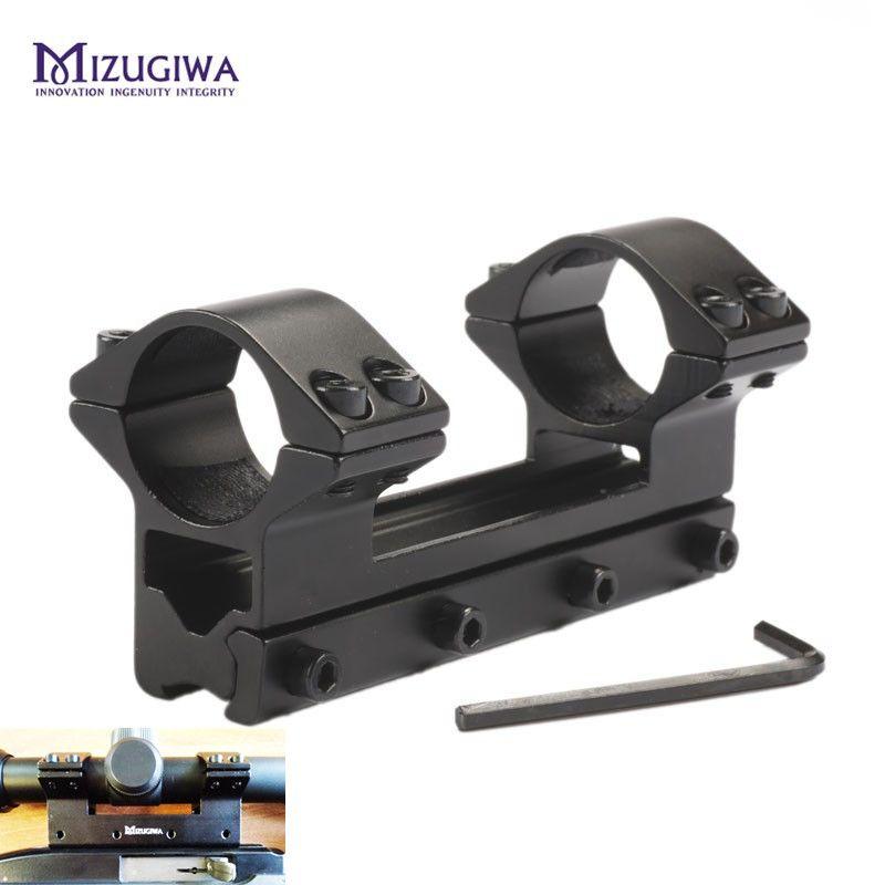 Portée montage 25.4mm 1 anneau une pièce profil haut avec goupille d'arrêt ajustement 11mm queue d'aronde Rail tisserand fusil à Air Magnum Airgun MR 512