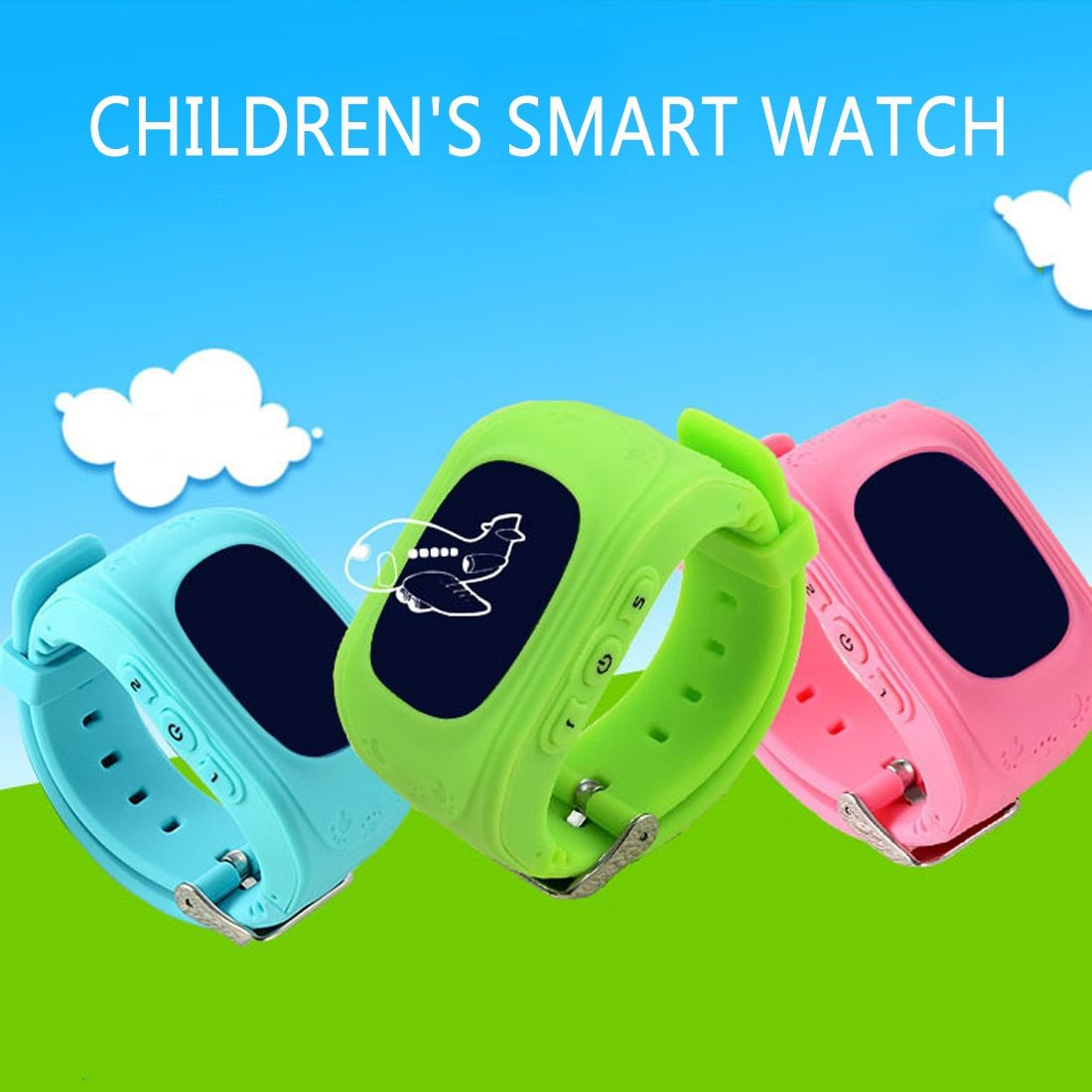 Hot Anti Lost Q50 OLED Child SOS Smart Monitoring Positioning Phone Baby Watch Compatible IOS & Android