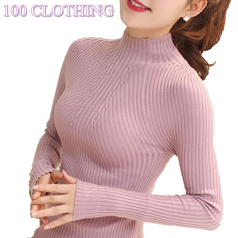 New Fashion Women turtleneck sweater 2017 Casual spring women bottoming slim warm knitted pullovers female burderry women