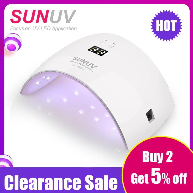 SUNUV SUN9x Plus 36 W Nail Lampe lampe UV séchoir d'ongles pour Gel UV led Gel machine à ongles capteur à infrarouge Minuterie Ensemble