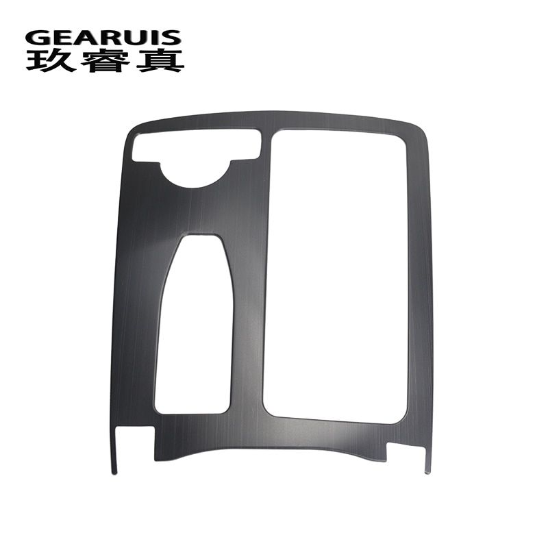Car Styling Multimedia Handrest Panel Covers For Mercedes Benz W204(2007-2013) W212(2010-2012) C Class E Class Auto Accessories