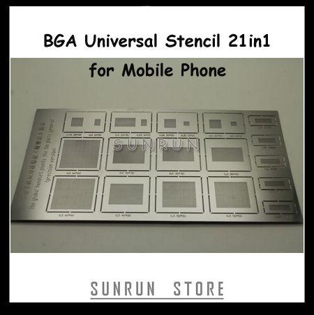 Precision Version! Free Shipping 1PC 21in1 BGA Reballing Universal Stencil for Mobile Phone Reballing Repair