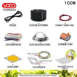 100 W 200 W 300 W CREE CXB3590 COB LED crecer luz módulo DIY Full Spectrum LED crecer lámpara interior planta titular Ideal MEANWELL conductor
