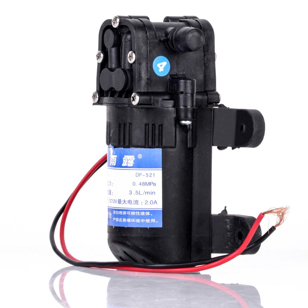 Mayitr 1pc DC 12V Electric Diaphragm Water Pump 70 PSI Black Agricultural Sprayer Pump 3.5L/Min