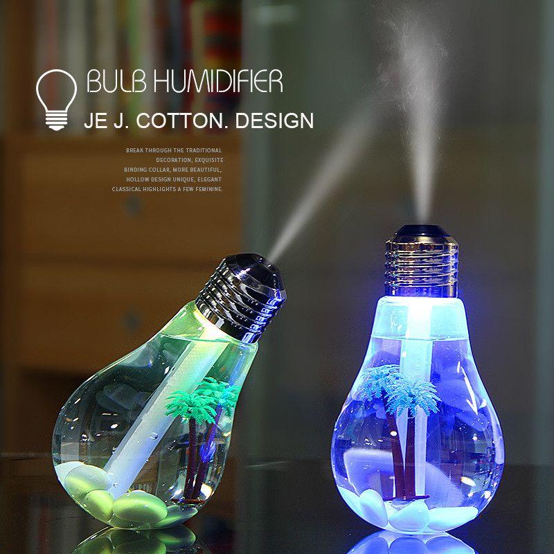 400ML humidificateur d'air à ultrasons arôme diffuseur d'huile essentielle à ultrasons Cool brume humidificateur purificateur d'air 7 Colo LED veilleuse