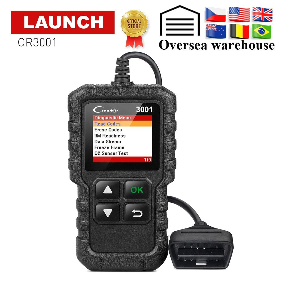 LAUNCH X431 Creader 3001 Full OBD2 OBDII Code Reader Scan tools CR3001 OBDII Car Diagnostic tool PK AD310 ELM327 OM123 Scanner