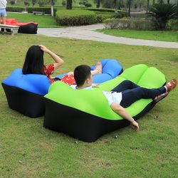 2019 New Outdoor Sofa Inflatable air sofa lazy bag Beach laybag Air Bed inflatable lounger chair fast folding sleeping bag mat