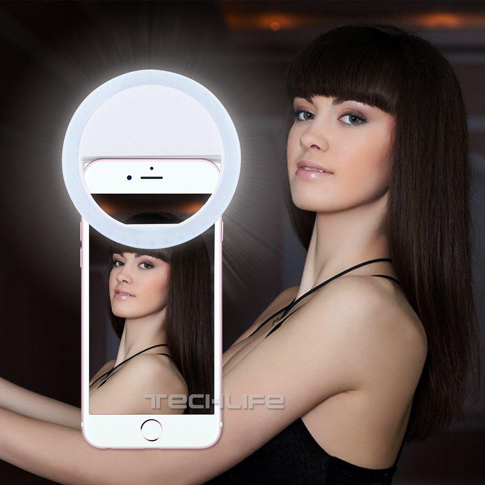 LED <font><b>Selfie</b></font> Ring Light for Iphone Supplementary Lighting Night Darkness <font><b>Selfie</b></font> Enhancing for iPhone 5 6s Plus Samsung Smartphone
