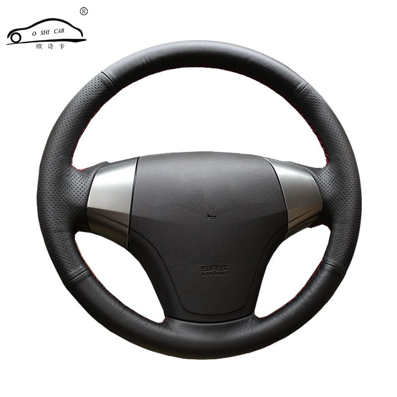 Artificial Leather car steering wheel braid for Hyundai Elantra 2008-2010/Custom made auto teering wheel cover Factory direct