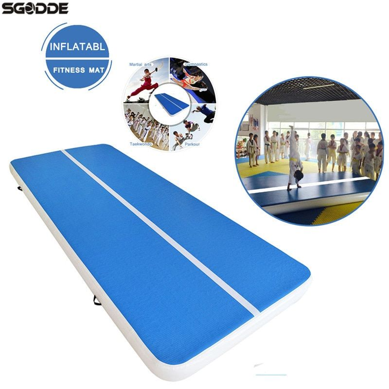 4/5/8M Aufblasbar Inflatable Tumble Track Trampoline Air Track Gymnastics GYM Pad Inflatable Air Mat with 220V Pump