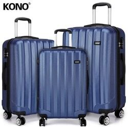KONO Rolling maletas bolsas de viaje llevar mano Trolley 4 ruedas Spinner duro ABS Shell 20 24 28 pulgadas K1773L