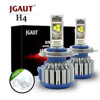 JGAUT T1 H4 светодио дный автомобиль свет H7 светодио дный Canbus H1 H3 H11 880 9005 9006 фара TURBO 70 Вт 7000lm авто лампы автомобилей фары 6000 К