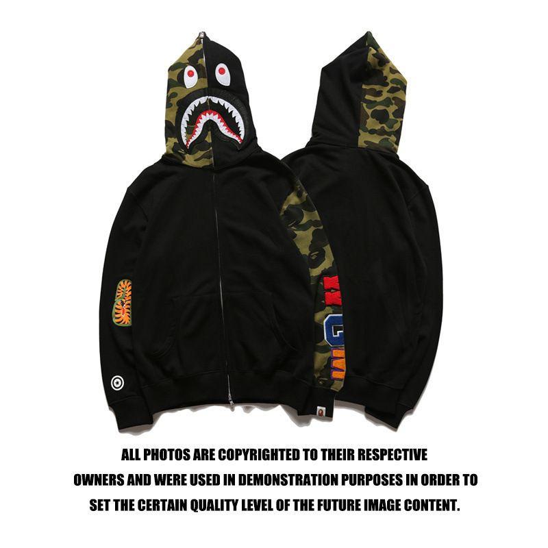 bape shark hoodie sweatshirt European and American Tide brand bathing ape