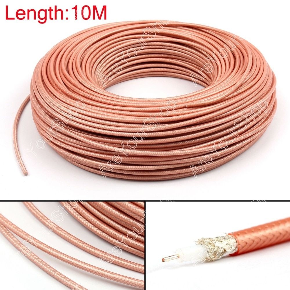Areyourshop Sale 1000cm RG142 RF Coaxial Cable Connector 50ohm M17/60 RG-142 Coax Pigtail 32ft Plug