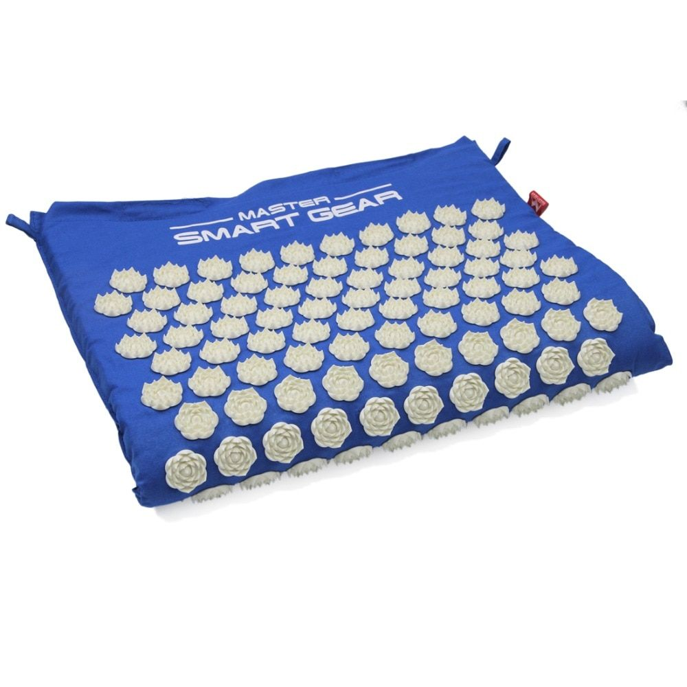 64cm*42cm Yoga Lotus Spike Acupuncture Mat Acupressure Massage Cushion Mat Relieves Stress Pain for Body Back Foot