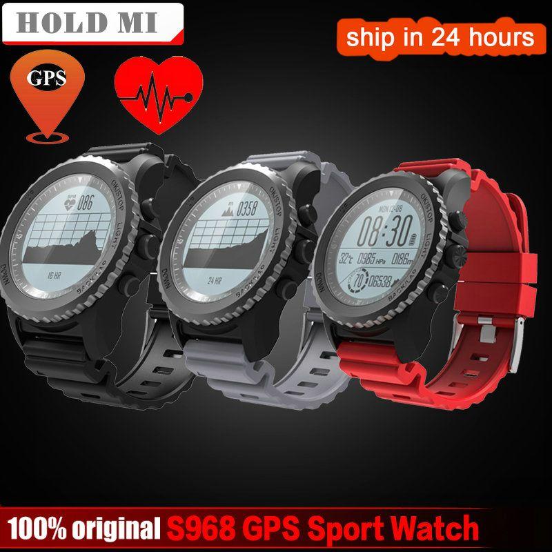Halten Mi S968 GPS Sport Smart Uhr Wasserdichte Schlaf Pulsmesser Thermometer Höhenmesser GPS Schrittzähler Smartwatch Männer