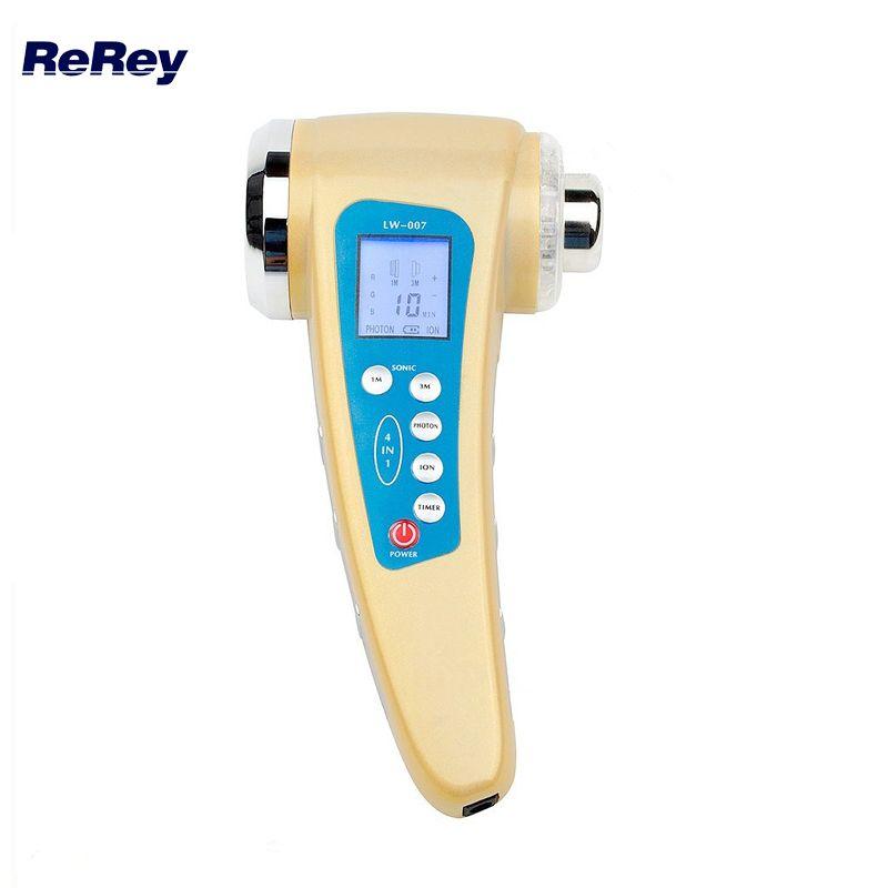 1 mhz Ultrasons Corps Minceur Masseur 3 mhz Thérapie Par Ultrasons Ion Galvanique Photon Dispositif Visage Rajeunissement de La Peau Cleaner Machine
