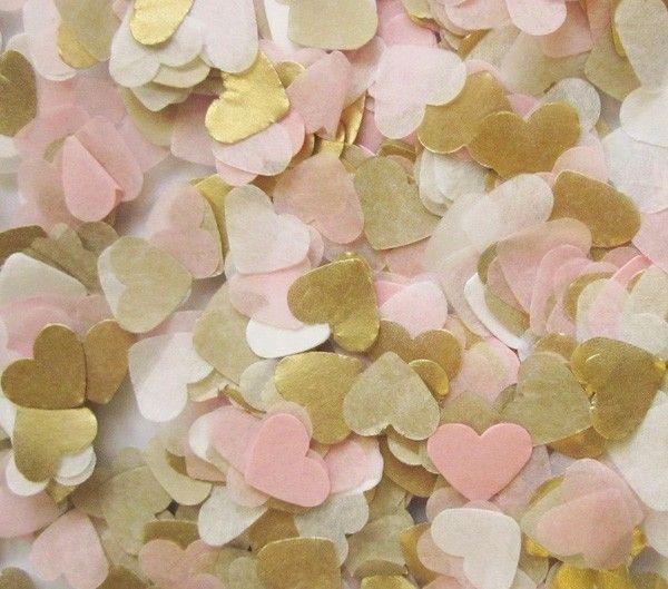 Libérez le bateau lot de 30g bébé rose or blanc papier de soie coeur confettis de mariage de fête d'anniversaire décoration de table pinata charges