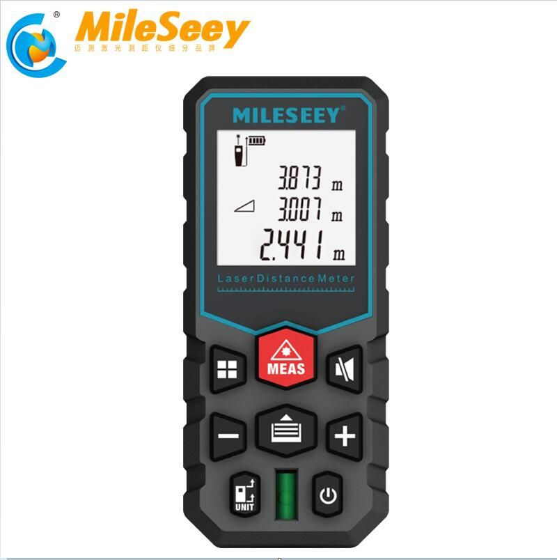 Mileseey laser distance meter electronic roulette laser digital tape rangefinder trena metro laser range finder measuring tape