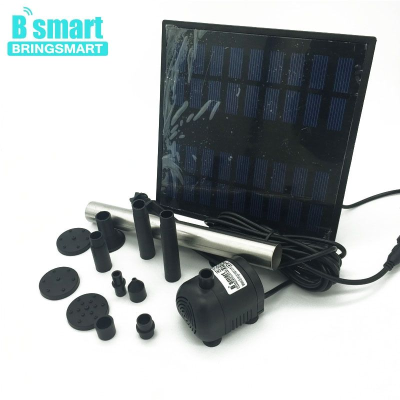Beingsmart JT-250-1.8W Solar Water Pump Kit 240L/H 110CM 9V DC Brushless Mini Pond Fountain Submersible Pump With Solar Panel