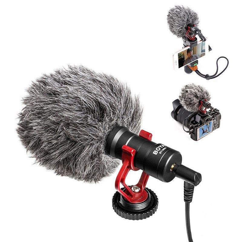 BOYA Video Micro Compact On-Camera Recording Microphone for Canon Nikon DJI Osmo DSLR Smooth Q 4 Feiyu Gimbal BY-MM1 Microphone