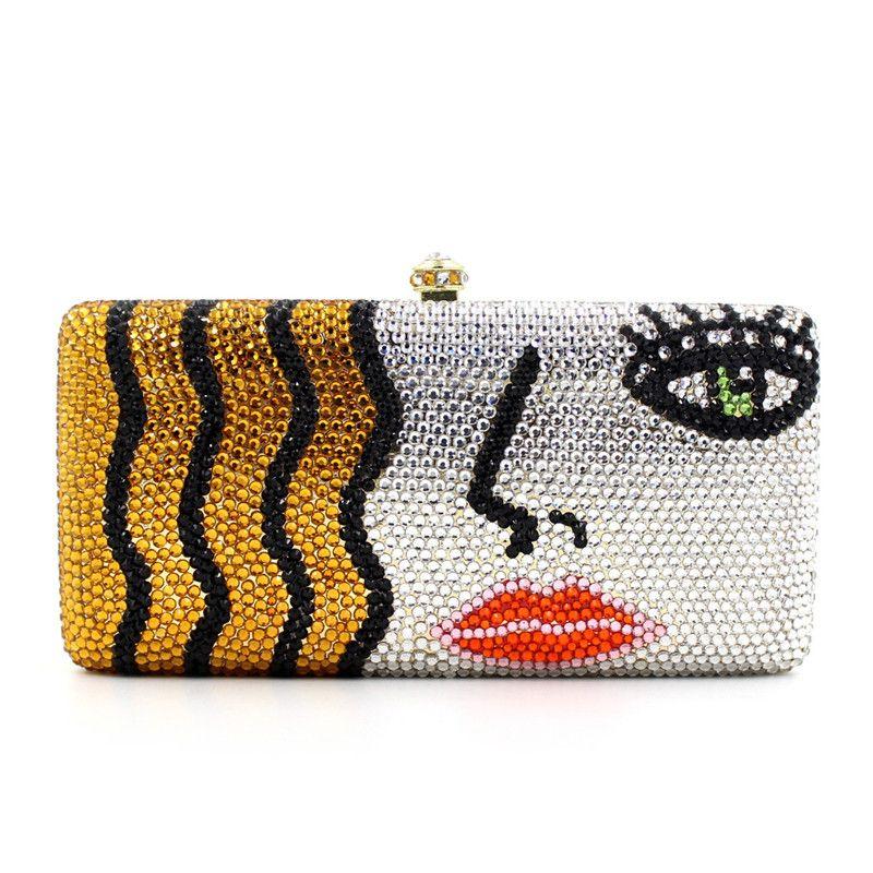 Luxus strass frauen handtaschen diamanten Damen kette kristall hochzeit braut handtaschen geldbörse Neue