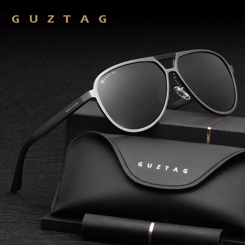 GUZTAG Unisexe Classique Marque Hommes Femmes lunettes de Soleil En Aluminium HD Polarisée UV400 Miroir Mâle Lunettes de Soleil Femmes Pour Hommes G9820