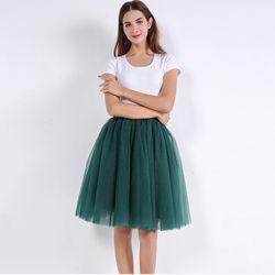 5 Lapisan 60 Cm Princess Midi Tulle Rok Lipit Tari TUTU Rok Wanita Lolita Petticoat Jupe Rok Faldas Denim Pesta rok