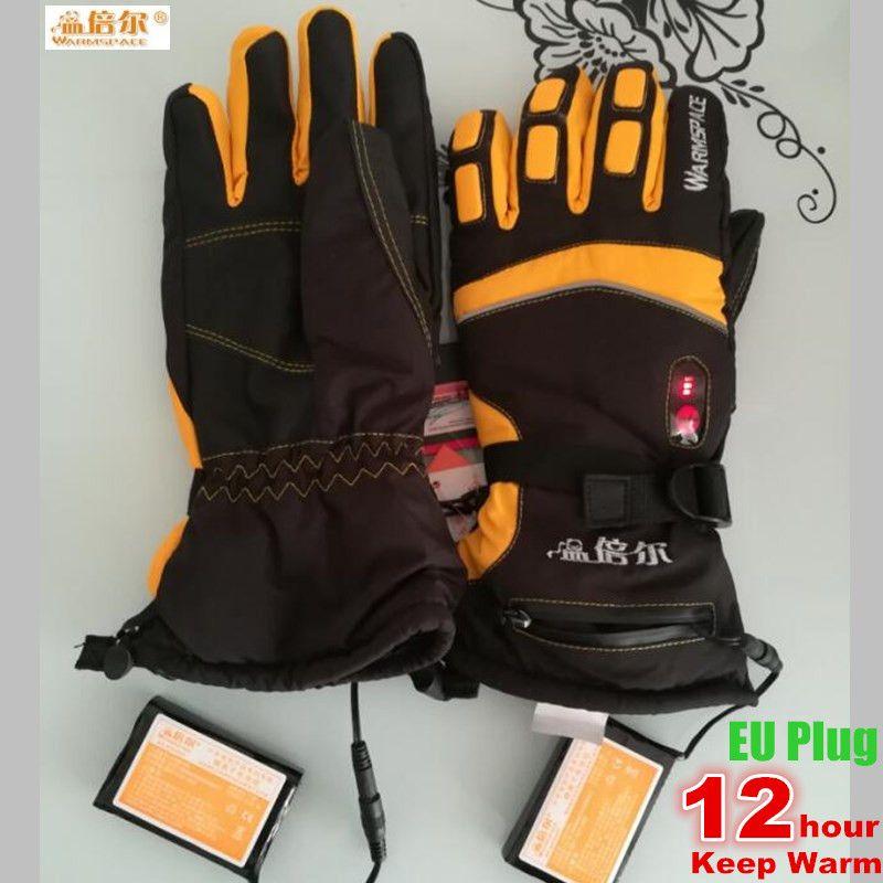 5600 MAH Smart Elektrischen Beheizte Handschuhe, Super Warm Freiensport Skifahren Handschuhe Lithium-Batterie 4 Finger & Palm & Hand Zurück Selbst Heizung