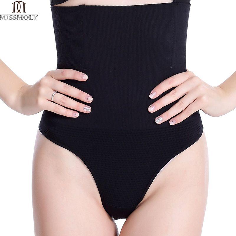 Miss Moly Women Shapewear High Waist Tummy Control Body Shaper Seamless Underwear Thong Panties Slimming Girdle Bodysuit Corset