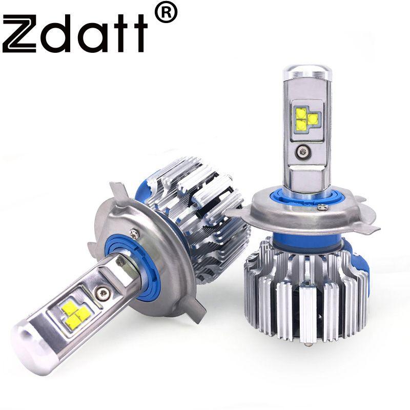 2Pcs Super Bright H4 Led Bulb 80W 8000Lm Car Led Headlight Canbus H1 H7 H8 H9 H11 12V Fog Lamps Automobiles 6000K Light