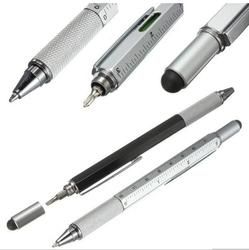 (1PCS/Sell) 5 Colors Screwdriver Capacitance fountain pens Stationery Ballpen Stylus Pen Touch Pen Oily Black Refill 0.7 Mm