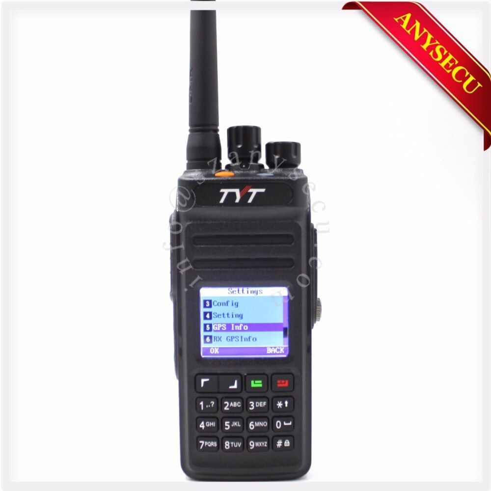 New Model GPS TYT MD398/MD-398 Waterproof DMR Digital Handheld Two way radio/walkie talkie IP67 10W 400-470MHZ walkie talkie GPS
