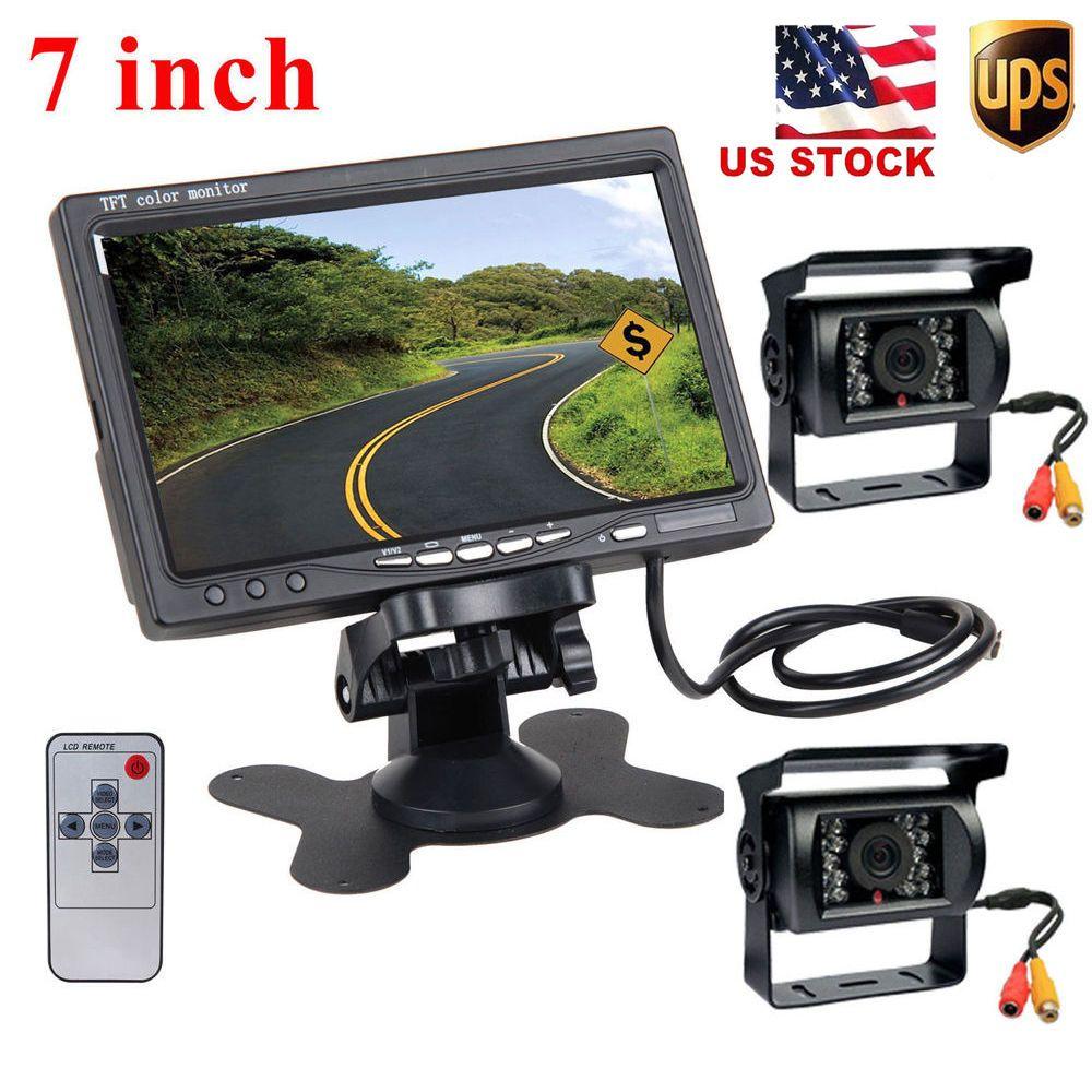 Podofo Dual Backup Cameras & 7