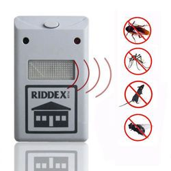 EU plug 1pcs  Home Electro Magnetic Ultrasonic Riddex Electronic Pest Rodent Repeller Mouse Mosquito Insect