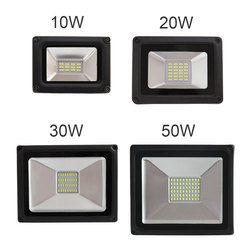 2017 nueva luz de inundación llevada 10 W 20 W 30 W 50 W reflector IP65 impermeable 260 V llevó el proyector refletor LED Iluminación de exterior gargen lámpara