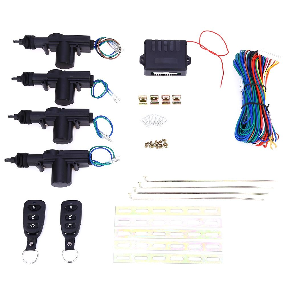 L240 Universal Car DC 12V 2 Wire Heavy Duty Power Door Lock Actuator Auto Locking System Motor With Hardware